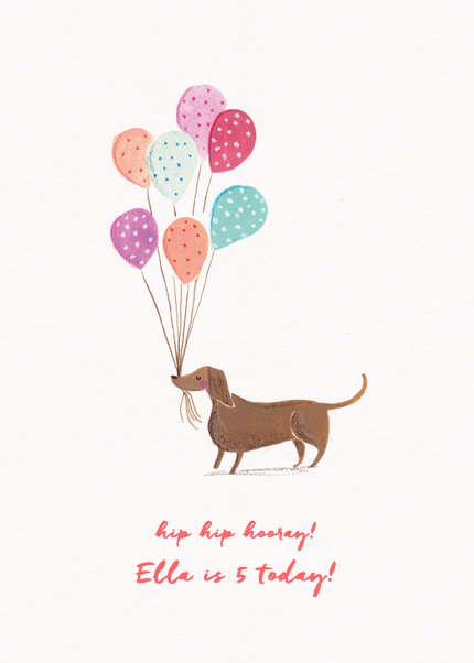 Dachshund With Balloons
