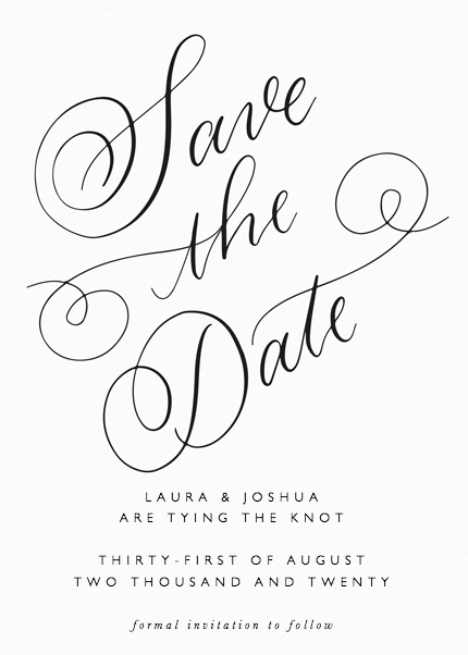 Classic Calligraphy | Save The Date | Papier