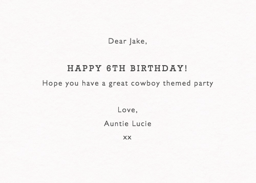 Birthday Cowboys