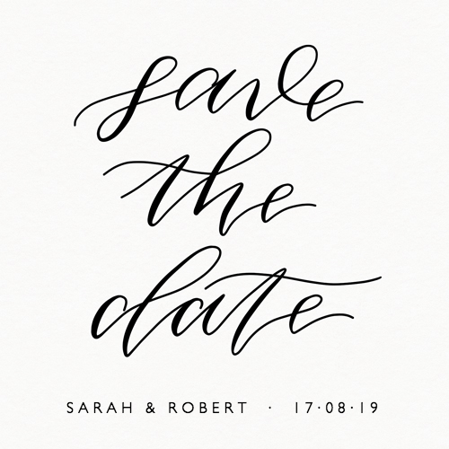 Save The Date Calligraphic