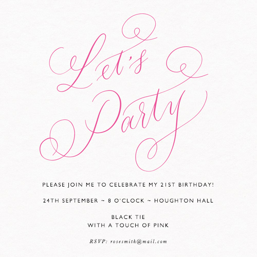 Let's Party Pink