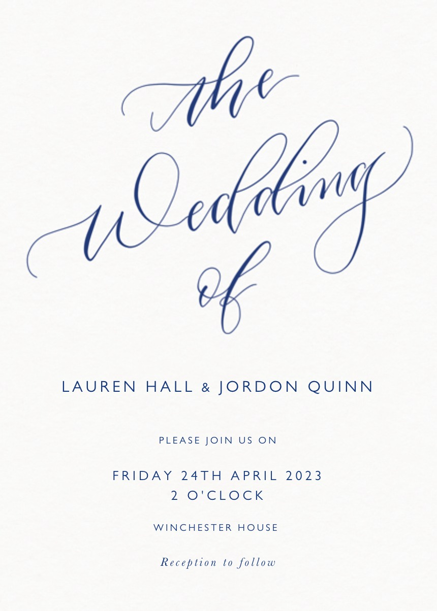 The Wedding Of Calligraphy