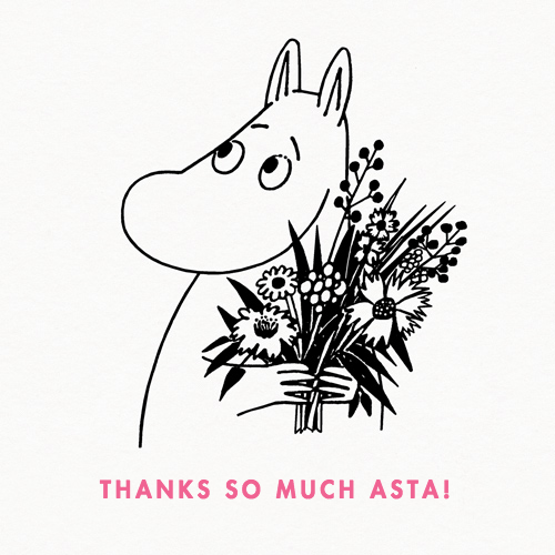 Moomintroll With Flowers