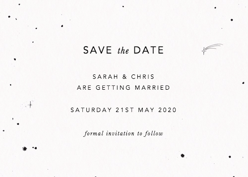 Save The Date Speckle
