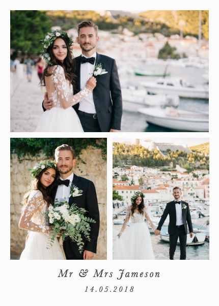 Portrait Wedding Triptych