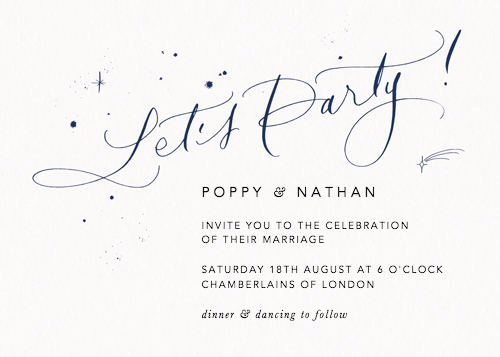 Let's Party Starry Navy