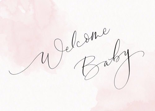 Welcome Baby Blush