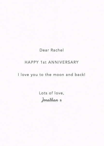 Moon And Back Anniversary