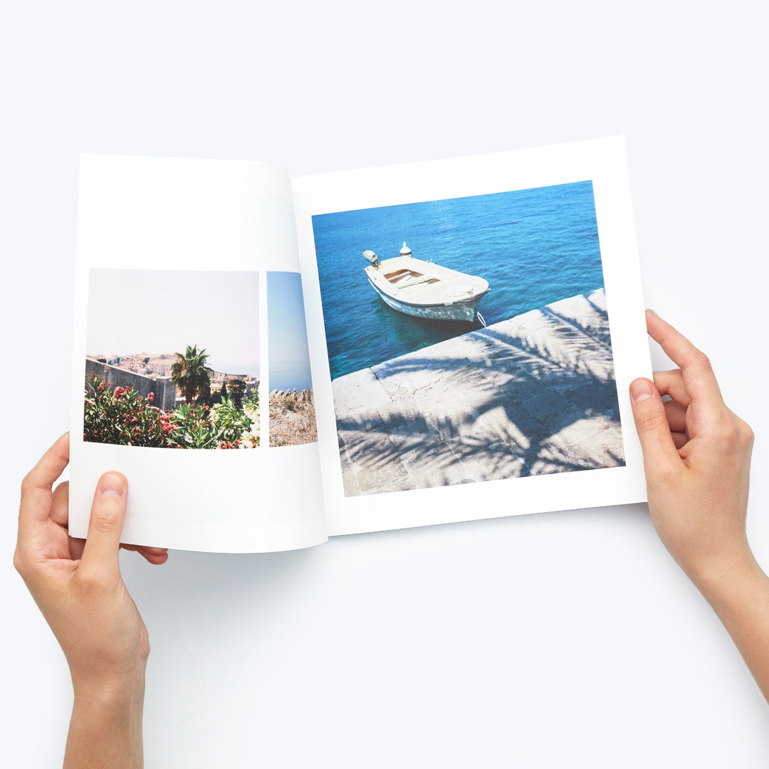 Softcover photobook open