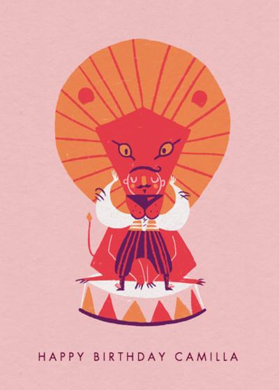 Cirque | Personalised Birthday Card