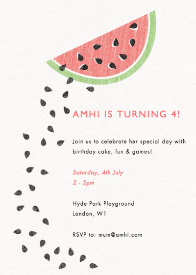 Watermelon | Personalised Party Invitation