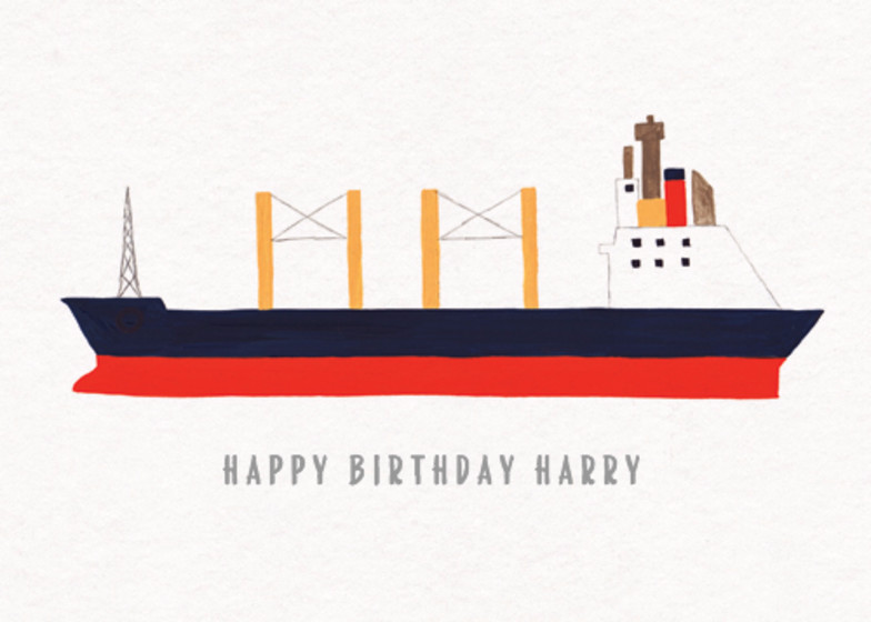Cargo Ship | Personalised Birthday Card