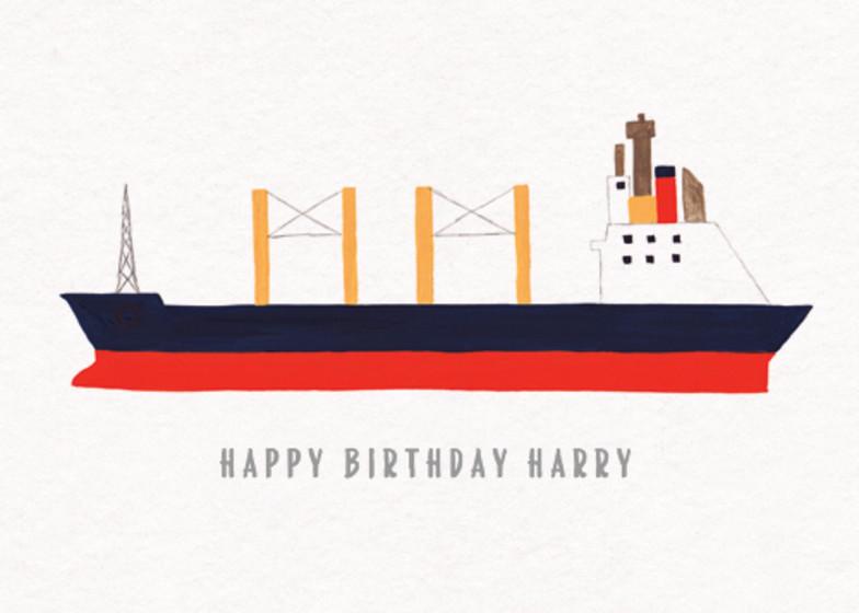 Cargo Ship | Personalised Birthday Card