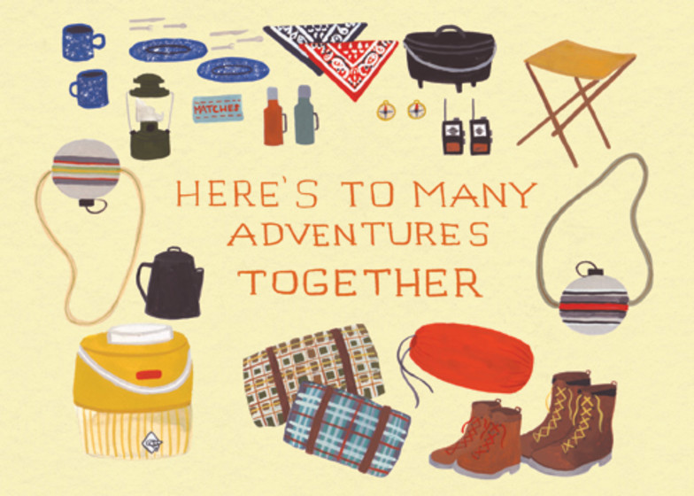 Adventures Together   Personalised Greeting Card