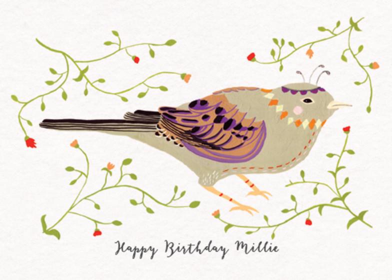 Eastern Bird | Personalised Birthday Card