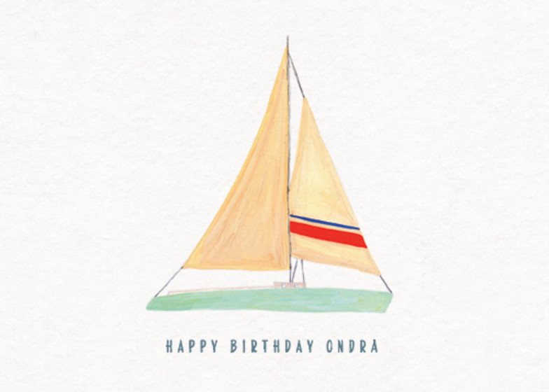 Sweet Sailing | Personalised Birthday Card