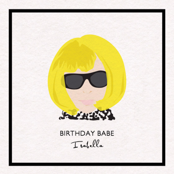Fashion Icon | Personalised Birthday Card