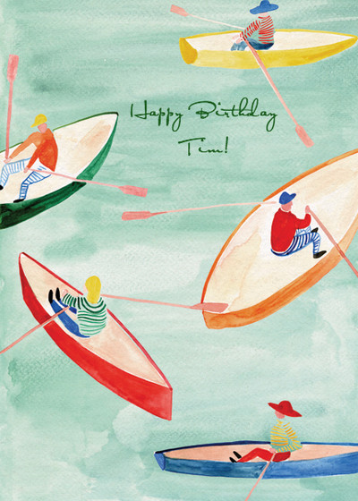 Row Your Boat   Personalised Birthday Card
