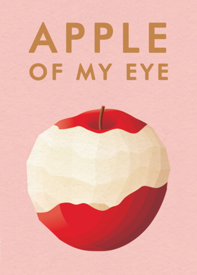 The Apple of My Eye | Personalised Greeting Card