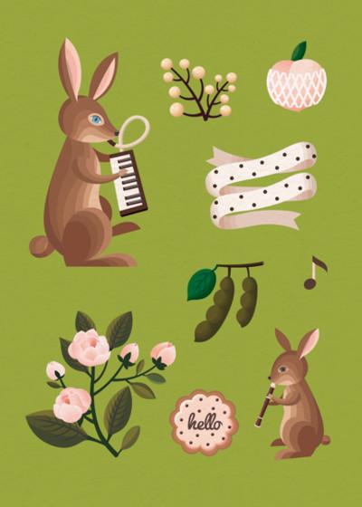 Woodland Bunnies | Personalised Greeting Card