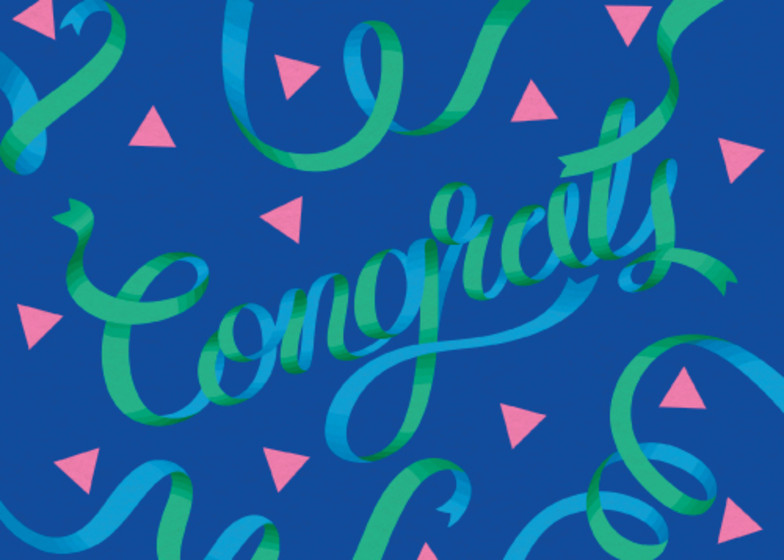 Green Ribbons | Personalised Congratulations Card