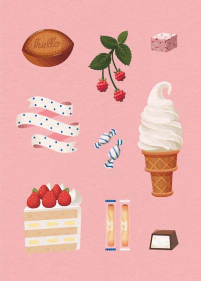 Sweet Treats   Personalised Birthday Card