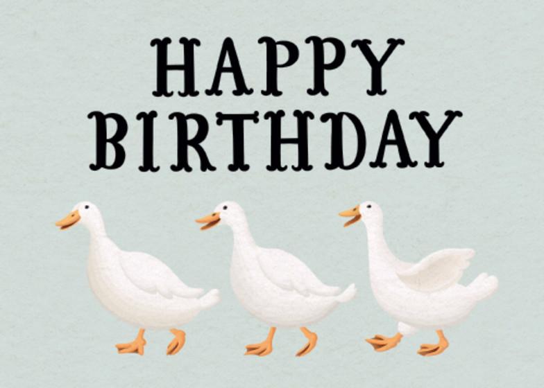 Three Little Ducks | Personalised Birthday Card