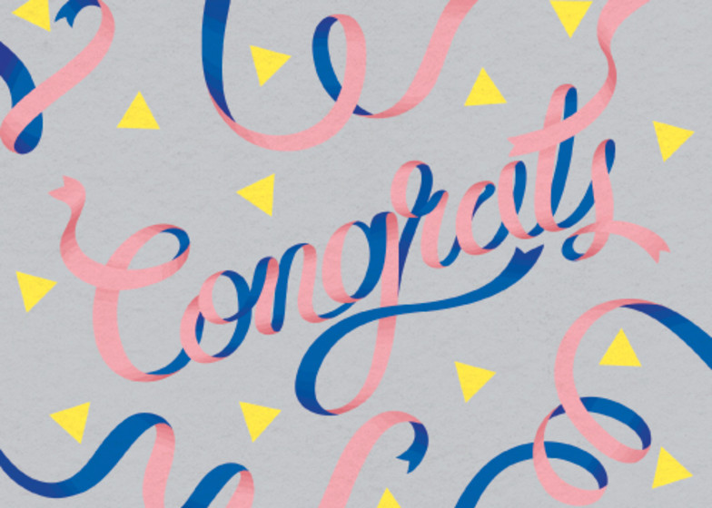 Pink Ribbons | Personalised Congratulations Card