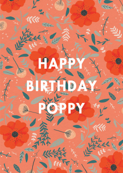 Poppies | Personalised Birthday Card