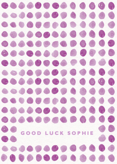Puntini | Personalised Good Luck Card