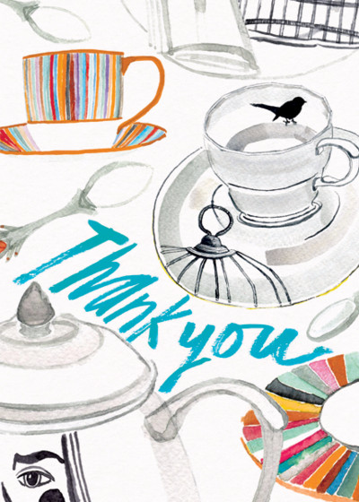 Tea Party | Personalised Thank You Card