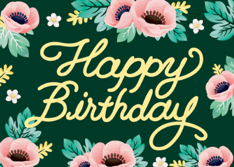 Forest Flowers | Personalised Birthday Card