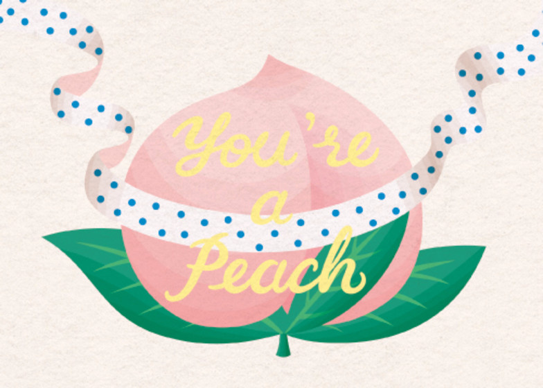 You're a Peach | Personalised Thank You Card