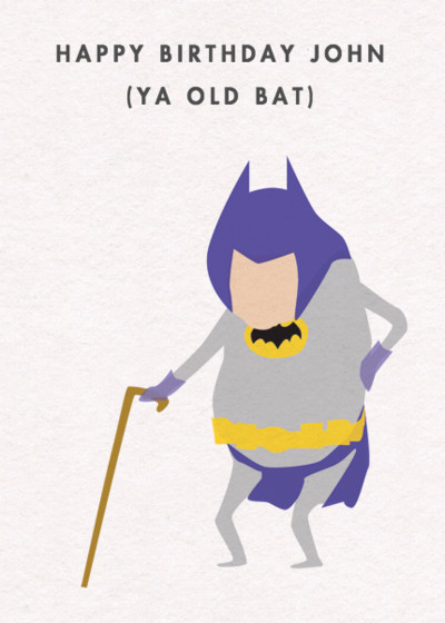 Old Bat | Personalised Birthday Card