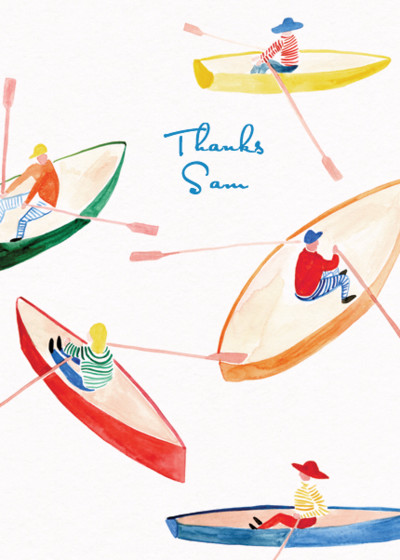The Rowers | Personalised Greeting Card