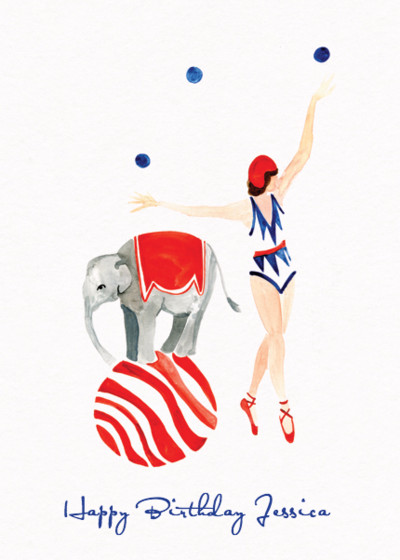 The Circus Girl | Personalised Birthday Card