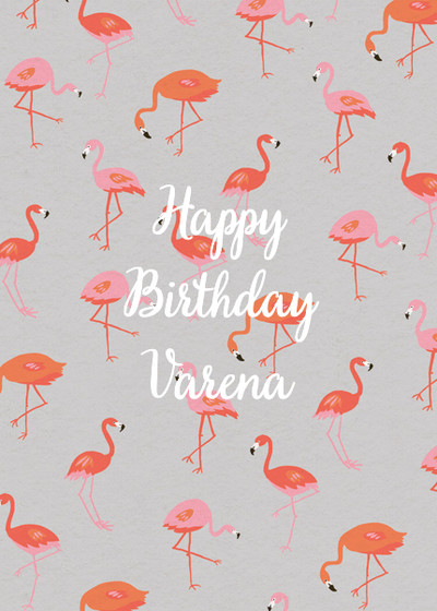 Flamingos | Personalised Birthday Card