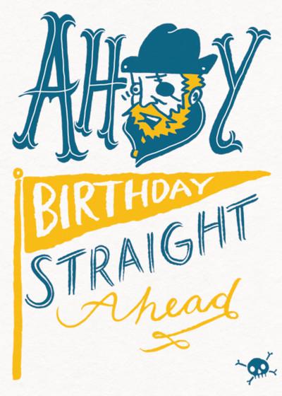 Ahoy   Personalised Birthday Card