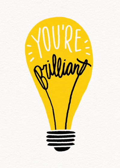 You're Brilliant | Personalised Congratulations Card