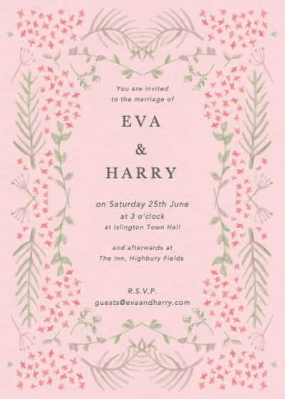 Pink Florals | Personalised Wedding Invitation