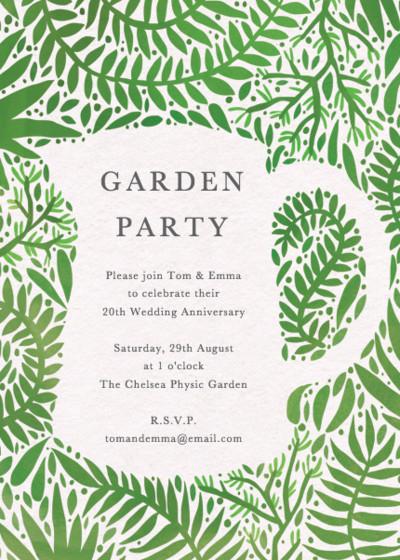 Garden Jug | Personalised Party Invitation