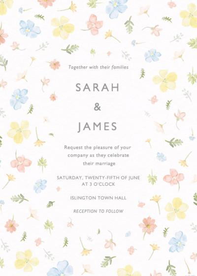 Petite Floral | Personalised Wedding Invitation