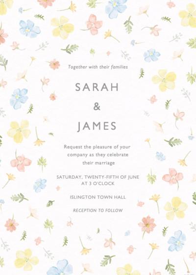 Petite Floral | Personalised Wedding Invitation