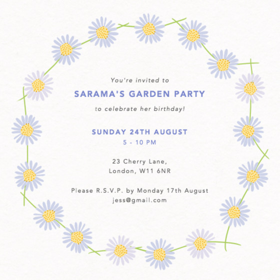 Daisy Chain | Personalised Party Invitation