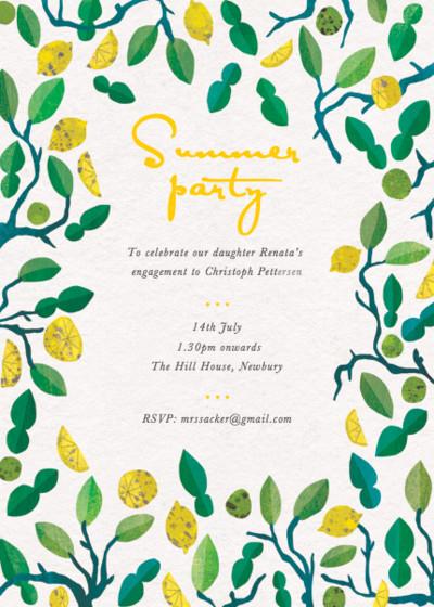 Lemons & Limes | Personalised Party Invitation