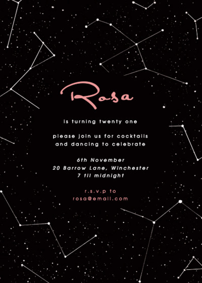 Constellations | Personalised Party Invitation