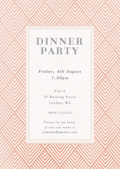 Pink Diamonds | Personalised Party Invitation