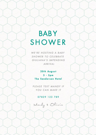 Honeycomb Bubbles   Personalised Party Invitation