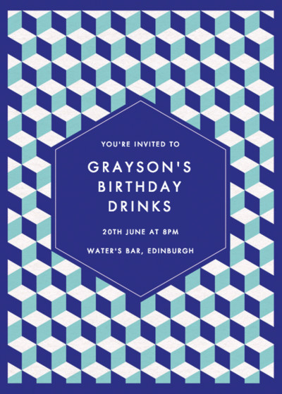 Cubed | Personalised Party Invitation