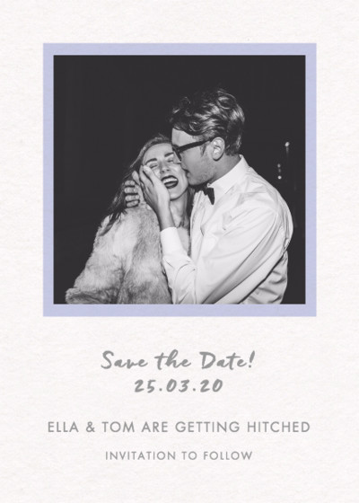 Frame Photo | Personalised Save The Date